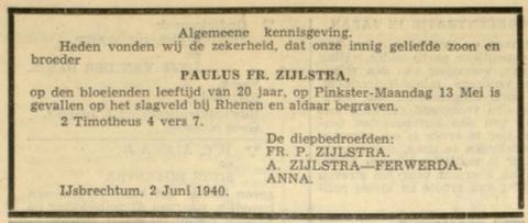 Leeuwarder Courant 3-6-1940