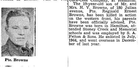 Hamilton Spectator 19-3-1945