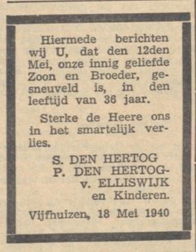De Banier 22-5-1940