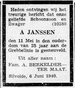 De Graafschap Bode 10-6-1940