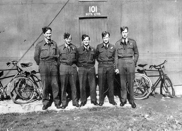 Photo of Ernest Alexander Star – The crew of HZ519 from left to right included: F/Sgt Ernest A. Star (Pilot) who has no known grave, F/Sgt John Kopchuk (Navigator), F/Sgt Casimir F. Orlinski (Wireless Operator/Air Gunner), F/Sgt James P. O'Reilly (Bomb Ai