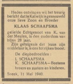 Friesch Dagblad 22-5-1940