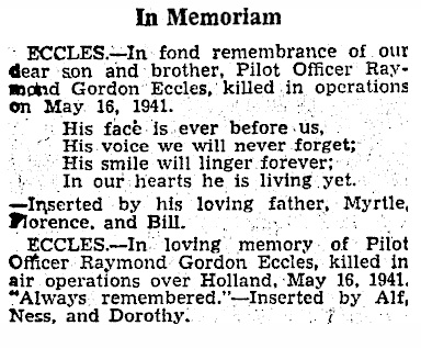 Otago Daily Times 15-5-1943