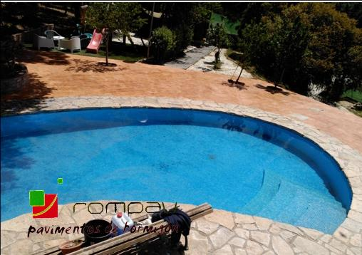 Hormigon impreso para piscinas Segovia