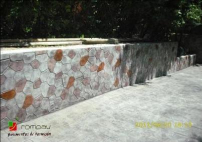 impreso vertical piedra irregular