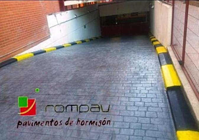 Rampa de garaje hormigon impreso Madrid