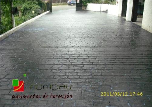 hormigon impreso gris Rompav