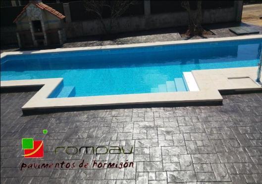Hormigon impreso piscinas, hormigon impreso precio desde 14€