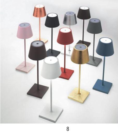 8. Akku-Tischlampe zum Dimmen - auch für draußen - 139 €