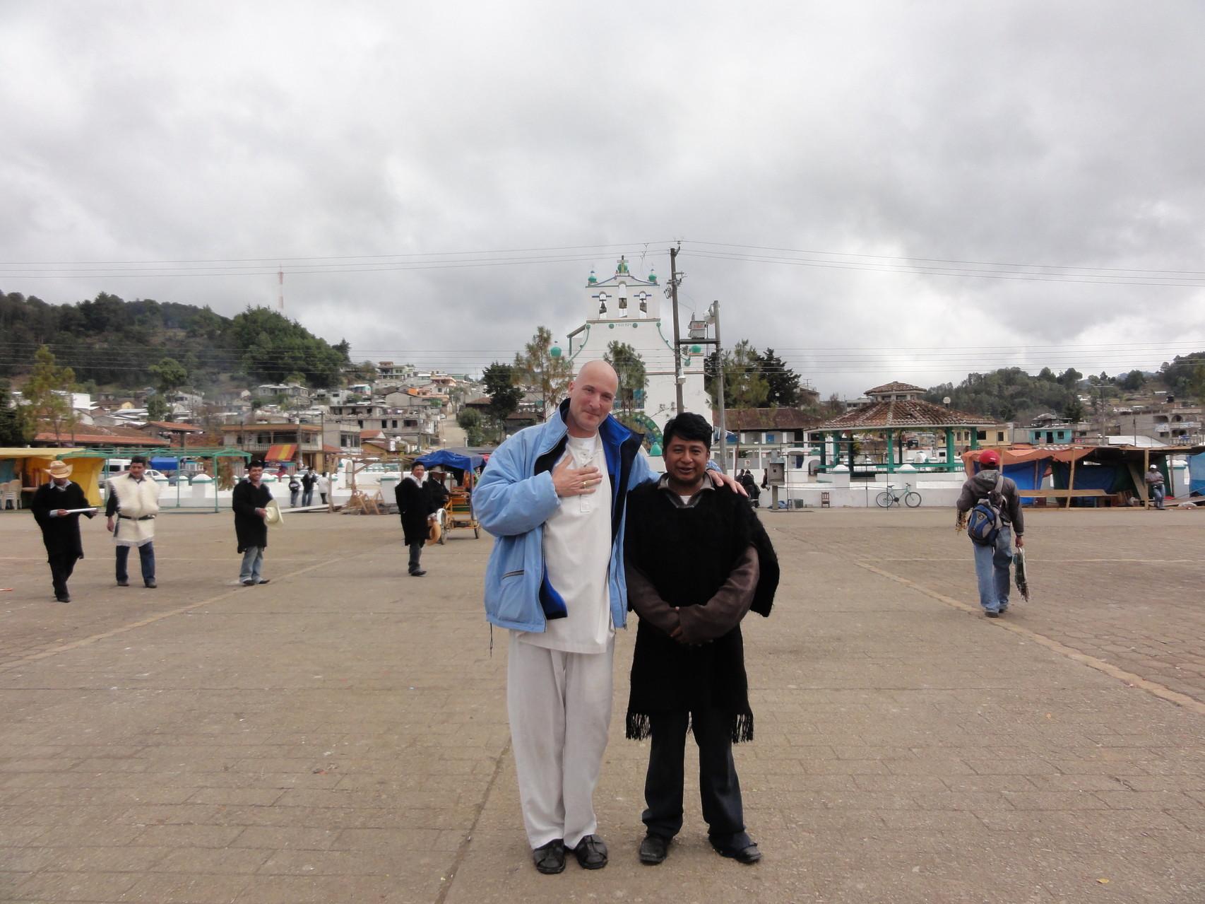 "Pascal K'in & Marcelino, ""mayordomo"", Chamula, Chiapas"