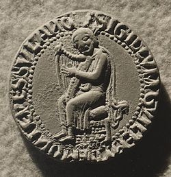 Sceau de 1190 qui représente Guilhem VIII