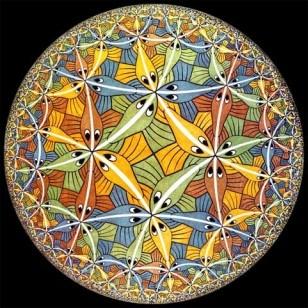 Le plan hyperbolique vu par M.C. Escher