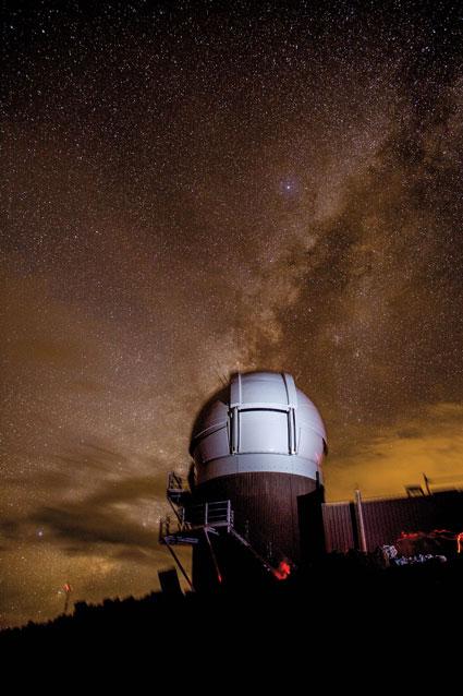 Le télescope Pan-STARRS (Hawaii) fait partie d'un réseau astronomique de surveillance des éléments susceptibles d'entrer en collision avec la Terre.