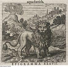 Le lion vert, symbole alchimique du vitriol (gravure de Théodore de Bry).