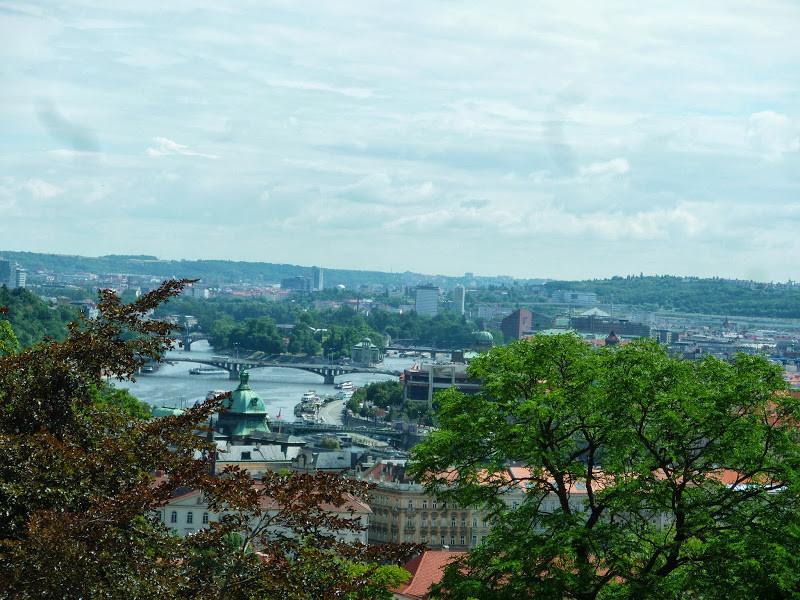 Prague, vue du château