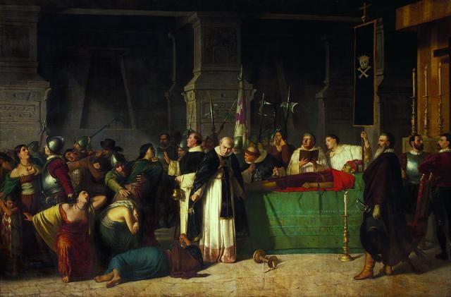 Funérailles de Atahualpa, dernier empereur incas