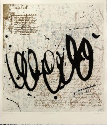 Lettre d'amour, gravure France McNeil