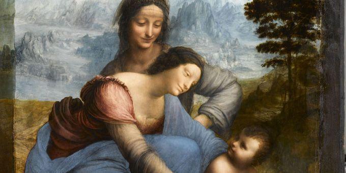 Sainte Anne (détail), dernière oeuvre inachevée - Musée du Louvre