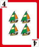 4=ヨット