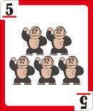 5=ゴリラ