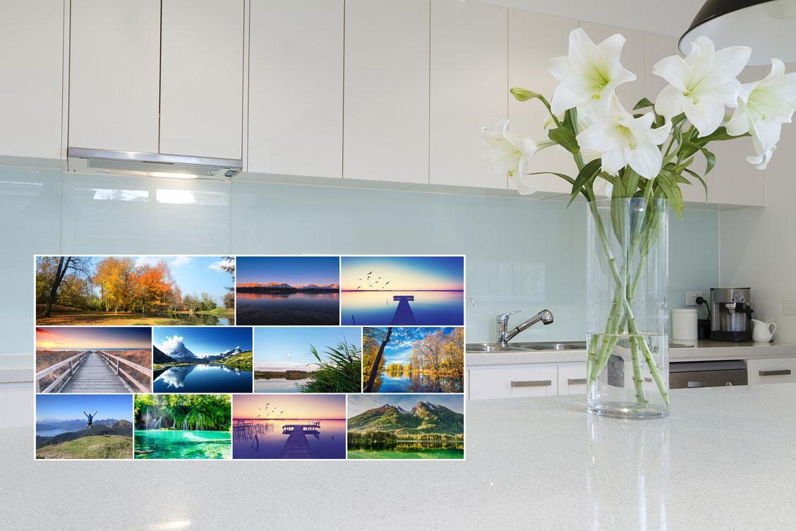 Spritzschutz aus Glas für die Küche an Herd & Spüle - glasposter.com