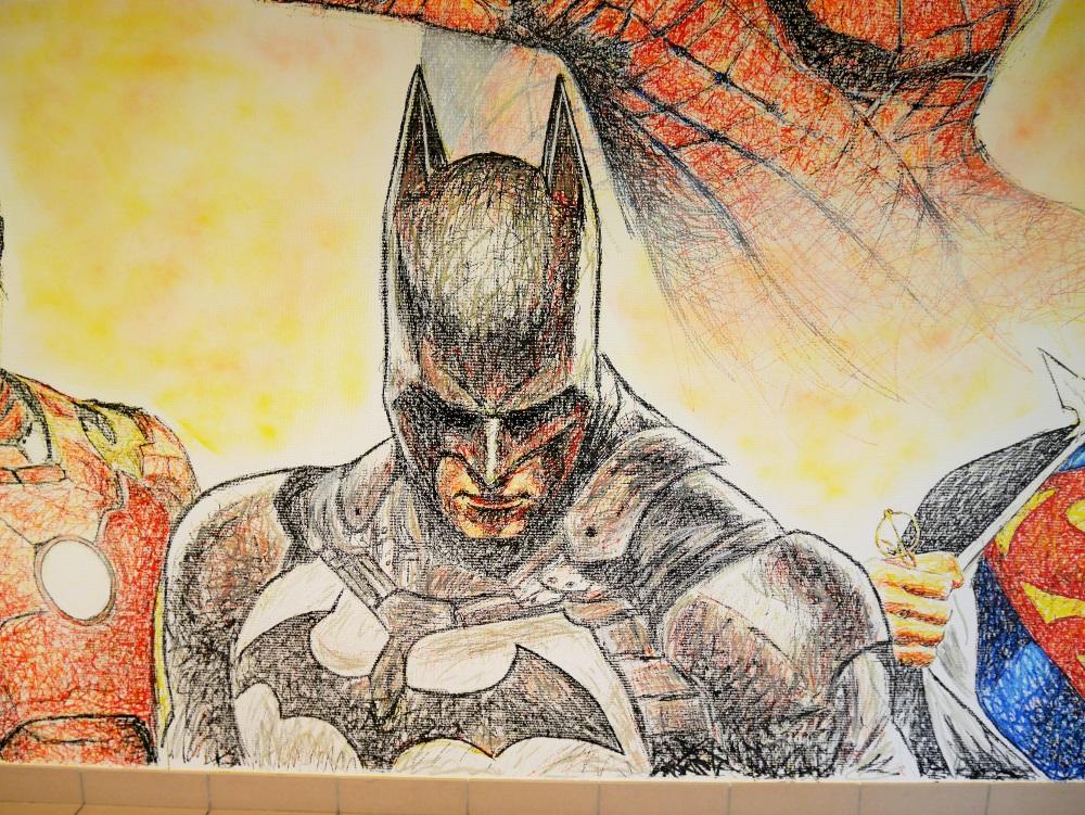 chambre-décoration-graff-fresque-batman-posca-peinture