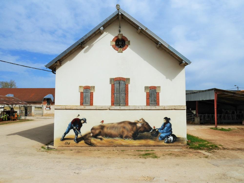 fresque-murale-animaux-nature-vache