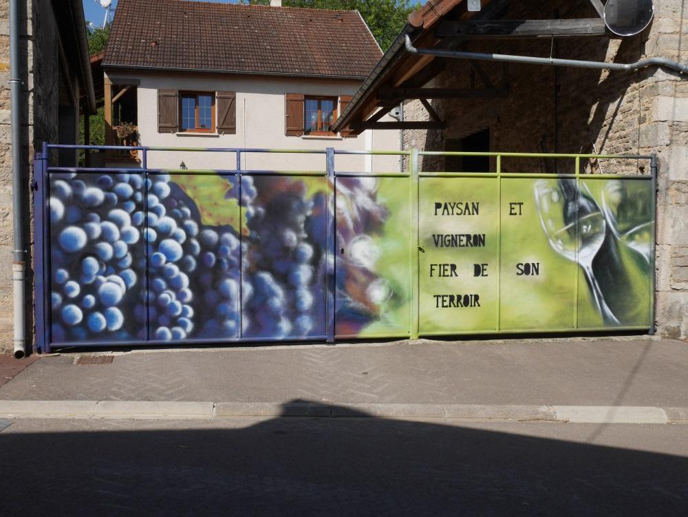 fresque-murale-champagne-vigne-vigneron-crémant-bouteille-flûte