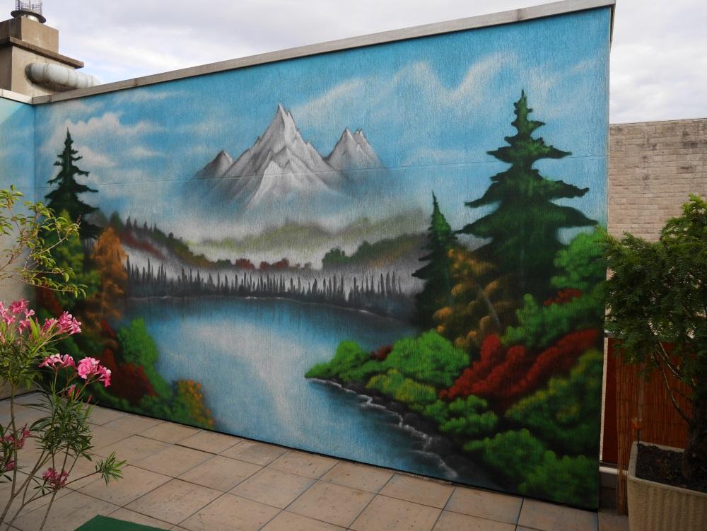 fresque-trompe-l'oeil-paysage-montagne-déco