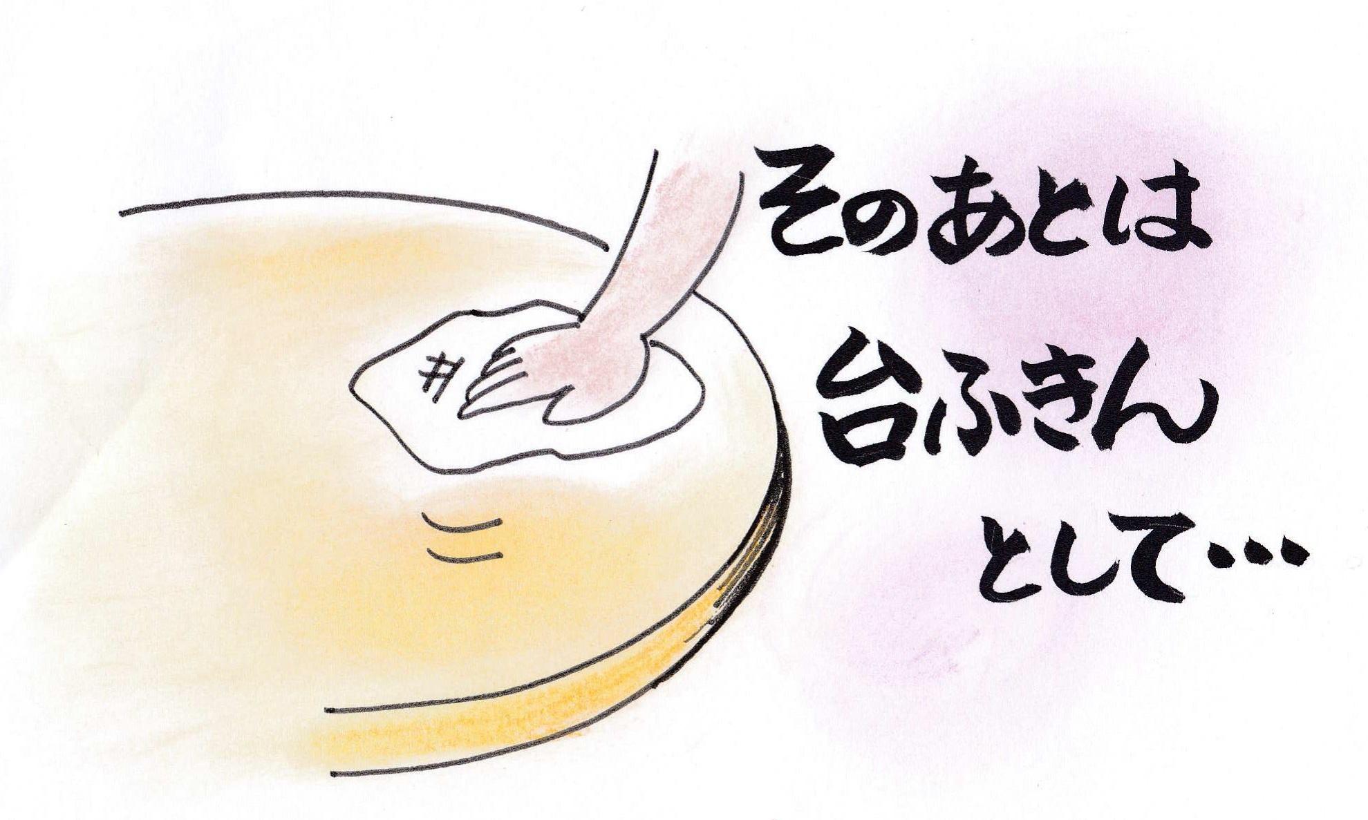 お肌洗いを引退後は 台ふきんや食器洗いなどで第二の人生活躍しますよ!