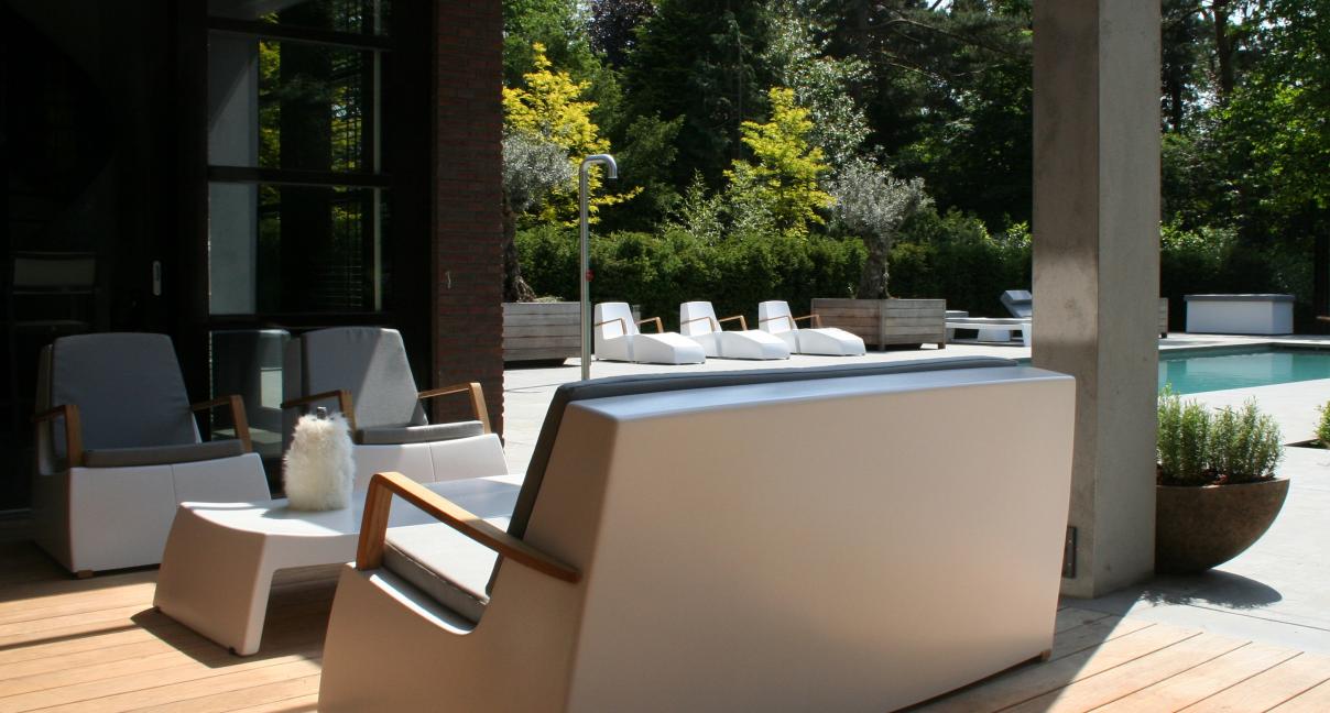 LOUNGE - Sofa + chair + tafel (lang)
