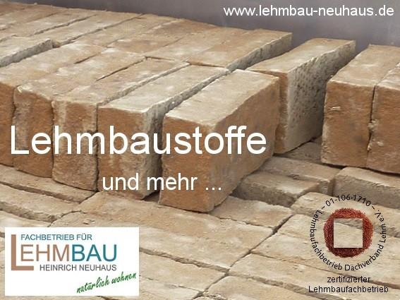 Lehmputz - Lehmsteine - Lehmbauplatten