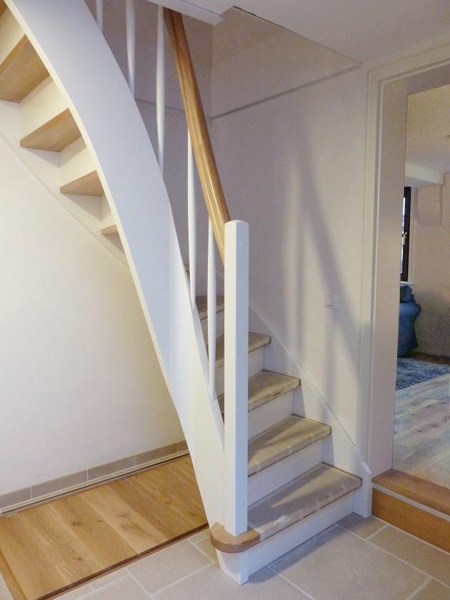 Lehmputz Fachwerkhaus - Treppe