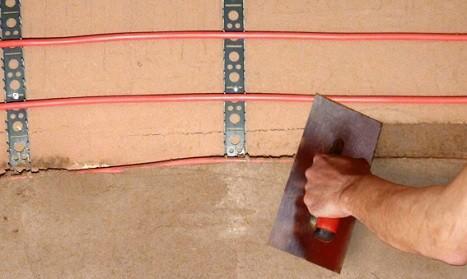 WEM Klimarohrsystem - Lehm Wandheizung - montieren & verputzen mit Lehmputz & Kalkputz - Lehmbau Neuhaus