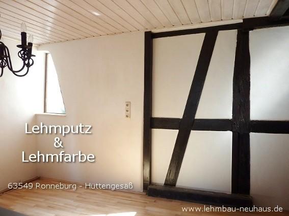 Fachwerk mit Lehmputz und Lehmfarbe 63549 Ronneburg Hüttengesäß MKK
