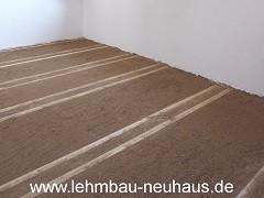 Lehmschüttung - Boden / Decke