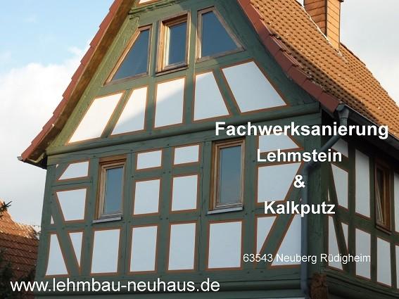 Fachwerksanierung - Lehmsteine und Kalkputz in 63543 Neuberg Rüdighem MKK