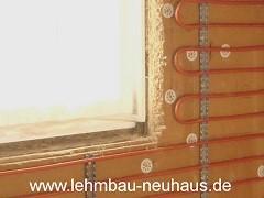 Holzfaserdämmplatte - Wandheizung