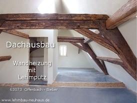63073 Offenbach Bieber - Dachausbau mit Lehm und Wandheizung