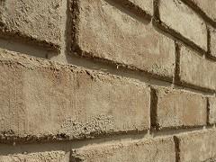 Wand - Mauer aus Lehmsteinen