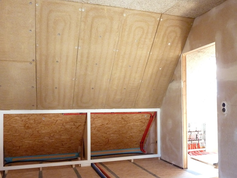 WEM Klimaelement - Lehm-Wandheizung Lehmplatte für den Trockenbau - Lehmbau Neuhaus