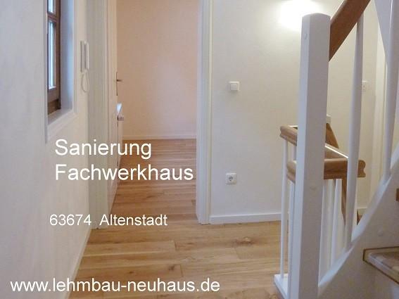 Sanierung Fachwerkhaus mit Lehmputz 63674 Altenstadt Wetterau
