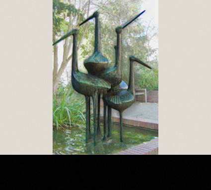 Storchenbrunnen, 1965; Standort: Nürnberg, Wöhrd; Bildhauer: Karl Reidel; Guß: Heinrich Lenz, Franz Jahn