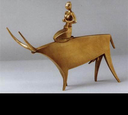 """""""Europa auf dem Stier"""" 2001; Bildhauer: Bernhard Leopold; Guß: Franz Jahn"""