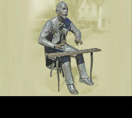 """""""Adolph v. Henselt"""" 2000; Bildhauer: Heindl Clemens; Standort: Schwabach, vor der Stadtkirche; Guß: Franz Jahn"""