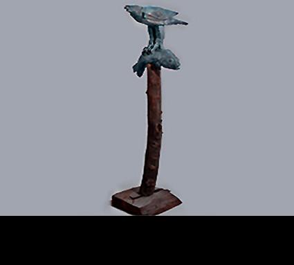 """""""Adler und Fisch"""" 2000; Bildhauer: Rösner Christian; Guß: Franz Jahn"""