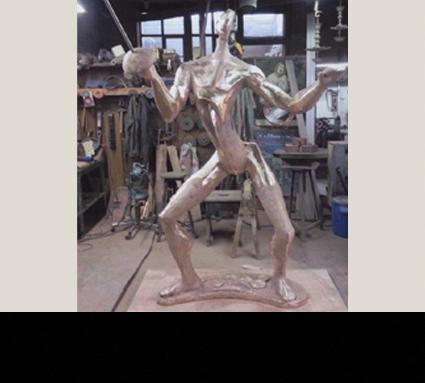 """""""Fechter""""; Bildhauer Vaclaw Cesak; Standort Lausanne"""