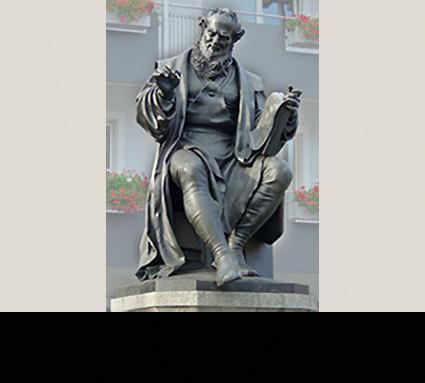 Hans-Sachs-Denkmal, 1874; Standort: Nürnberg, Hans-Sachs-Platz Bildhauer: Konrad Kraußer; Guß: Christoph Lenz