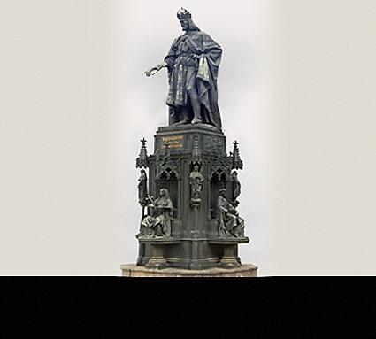 Kaiser Karl IV; Standort: Prag; Guß: Daniel Burgschmiet