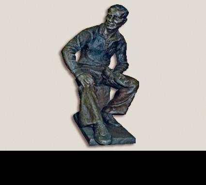 """""""Adi Dassler""""; Bildhauer: Tabachnik Joseph; Standort: Herzogenaurach, ADIDAS Werksgelände; Guß: Franz Jahn"""